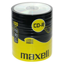 MAXELL CD-R Recordable Blank CDs PC Laptop Computer Shrink Wrapped 100 Pk