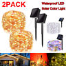 2Pack LED Solar Power Fairy Lights String Lamps Party Xmas Decor Garden Outdoor