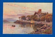 Rare Postcard Dunollie Castle Oban Argyll & Bute Scotland Salmon Series vgc