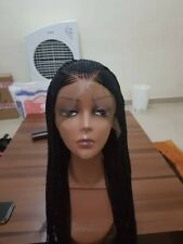 Braided Lace Wig, Ghana Weave, Neat Cornrows and braids, Full Frontal Lace Wig.