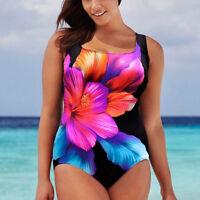 Sexy Black Over-sized Floral Monokini Swimwear Beachwear Push-up Bathing Suits