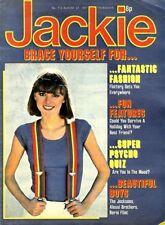JACKIE MAGAZINE #712 BERNI FLINT COLOUR POSTER, THE JACKSONS, ALESSI BROTHERS