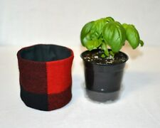 co-worker gift planter pot desk top bedroom accent handmad Buffalo Plaid Rob Roy