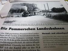 Neben - Schmalspurbahnen 2 Die Pommerschen Landesbahnen 6S
