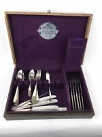 Vintage Lot 1927 Wm Rogers Mfg AA Silver Anniversary Silverplate Flatware w Case