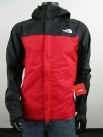 Mens TNF The North Face Venture Dryvent Waterproof Hooded Rain Jacket - Red
