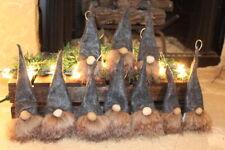 U.S.A Hand Made Christmas Scandinavian Gnome Ornaments Adorable Set Of 10