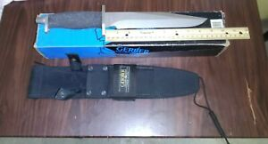GERBER 5925 BMF Fixed Knife W/ Sheath & Compass New old stock in box Tactical