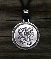 Pewter Rampant Griffin / Gryphon / Griffon Pendant Made in Usa
