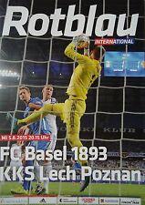 Programme UCL 2015/16 FC Bâle vs Lech Poznan