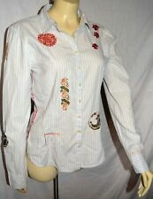 3J Workshop Johnny Was  JW Los Angeles Embroidered Blouse Tunic Top M runs smal
