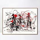 "Framed Art Abstract Series#6 by Jackson Pollock Giclee Print Home Decor 28""x40"""