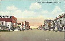 Albany Georgia Postcard Broad Street Looking East Linen Postmarked 1944 Delaware