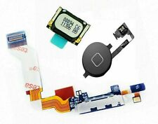 For iPhone 4s Charging Port Flex Cable USB Dock + Ear Speaker + Button Black