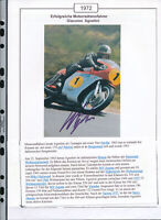565268 / Motorrad Beleg Autogramm Giacomo Agostini