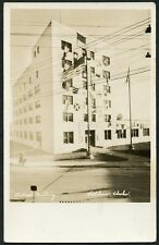 KETCHIKAN ALASKA FEDERAL BUILDING 1939 FLAGS ON FRONT RPPC Photo Postcard