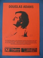 More details for douglas adams hitchhikers guide signed national theatre poster autograph