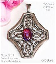 Alloy Opal Costume Necklaces & Pendants