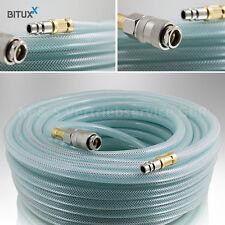 BITUXX® 10 Meter PVC Druckluftschlauch mit 1/4 Schnellkupplung Kompressoren 10m