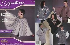 Phentex 6 Patterns for Machine Knitting #93672E Half Moon Sweater & More