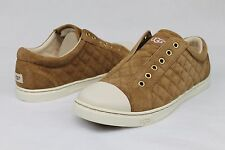 UGG JEMMA QUILTED SUEDE CHESTNUT FASHION SNEAKER TENNIS SHOE SIZE 7.5 US NIB