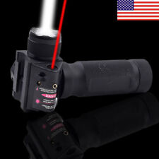 Combo Vertical Foregrip CREE LED Flashlight&Red Laser Sight 20mm Picatinny Rail