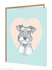 Schnauzer / amoureux de chiens/ ANNIVERSAIRE/CARTE VOEUX/brainbox CANDY/MIGNON
