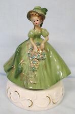 Josef Original Musical Girl Standing in a Dark Green Dress