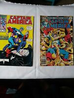 """Vintage Set Of 2 """"Captain America Marvel's 25th Anvy"""" #325 and Captain America"""