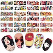 Sticker Nail Art Cover Water Transfer Pop Slider Girl Women For Manicure Supply