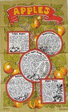 Vintage pommes par dunmoy séché Anneaux Toffee Apple Recette années 1960 Lin Torchon