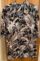 Cubavera Floral Hawaiian Multicolor SS Button Front Rayon Men's Size 2XL Shirt