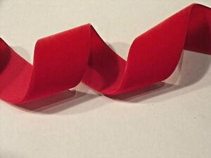 Berisfords Luxury Velvet Ribbon Shade 9629 Red. Choose width & Length.
