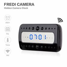WIFI 1080P HD IP Spy Camera Alarm Clock Motion Detection Hidden Night Vision WM