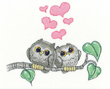 Hearts and Feathers Cross Stitch Kit on AIDA by Heritage Crafts COMPLETE KIT