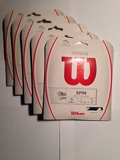 New Ripspin tennis string 16 ga blk(same as revolve poly) pk of 5 sets
