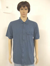 Mens Columbia Size XL Short Sleeve Button Front Shirt With Omni Shade