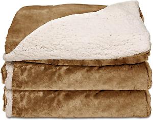Sunbeam Heated Throw Blanket | Reversible Sherpa/Rol Mink, 3 Heat Settings, Hone