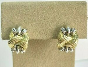 Lagos Sterling Silver 18k Caviar Knot Earrings