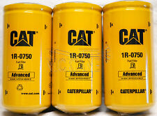 3 NEW CAT 1R-0750 FUEL FILTERS SEALED MADE IN USA CATERPILLAR 1R0750 OEM