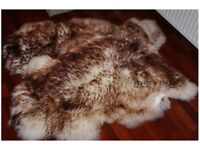 Real White Brown sheepskin rug natural soft carpet 100% genuine fluffy wool