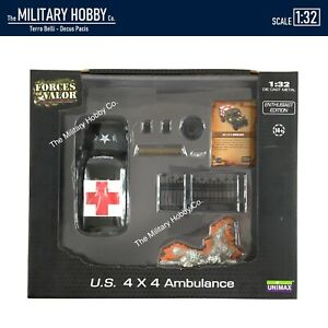 1:32 Diecast Unimax Toys Forces of Valor WWII US Army Dodge Ambulance Truck