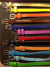 Chic NEW Fashion Cute Cross Buckle Women Candy Color Thin Skinny PU Leather Belt