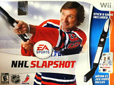 NHL SLAPSHOT Nintendo Wii Game - Hockey Stick Accessory Included