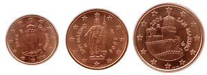 San Marino 2006 - Mini Set 3 Euro Coins (UNC)  *RARE*