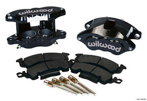 "WILWOOD D52 BRAKE CALIPER & PAD SET W/PINS,FRONT,1.28"",BLACK,BIG GM CALIPERS,PAD"