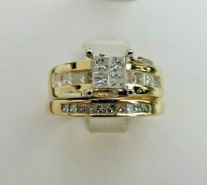 D-Color Princess Shape 1.00 Carat Solitaire Engagement Ring In 14KT Yellow Gold