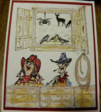 OUTSIDE BARN WINDOW Retired photo #2)L@@K@examples art impressions rubber stamps