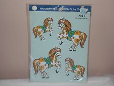 Vtg 1983 Decoral Handpainted Waterslide Decals Ponies  A-57 New Old Stock