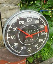 MERCEDES BENZ - Speedometer - WALL CLOCK - Metal/Glas - Licensed ! NEW in Box